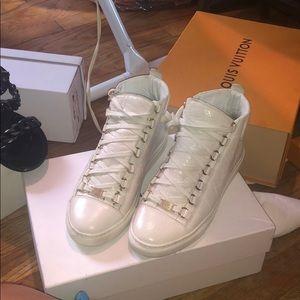 Balenciaga white arena sneakers